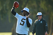 January 28 2016: Buffalo Bills quarterback Tyrod Taylor during the Pro Bowl practice at Turtle Bay Resort on North Shore Oahu, HI. (Photo by Aric Becker/Icon Sportswire)