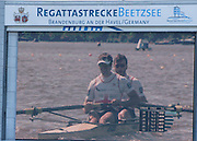 Brandenburg. GERMANY. Silver medalist Men's Pair, Bow, Alan SINCLAIR and Stewart INNES, featured on TV at the 2016 European Rowing Championships at the Regattastrecke Beetzsee<br /> <br /> Sunday  08/05/2016<br /> <br /> [Mandatory Credit; Peter SPURRIER/Intersport-images]