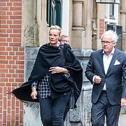 NLD/Amsterdam//20170309 - Herdenkingsdienst Guus Verstraete, Marijke Schaaphok en partner Guido Maas