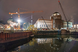 Construction site of Humboldt Forum in the Berliner Schloss in Mitte Berlin, Germany