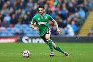 Samuel Habergham of Lincoln City in action. The Emirates FA cup 5th round match, Burnley v Lincoln City at Turf Moor in Burnley, Lancs on Saturday 18th February 2017.<br /> pic by Chris Stading, Andrew Orchard Sports Photography.