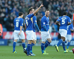 Leicester City's Daniel Drinkwater celebrates after scoring a goal - Photo mandatory by-line: Nigel Pitts-Drake/JMP - Tel: Mobile: 07966 386802 29/12/2013 - SPORT - FOOTBALL - King Power Stadium - Leicester - Leicester City v Bolton Wanderers - Sky Bet Championship