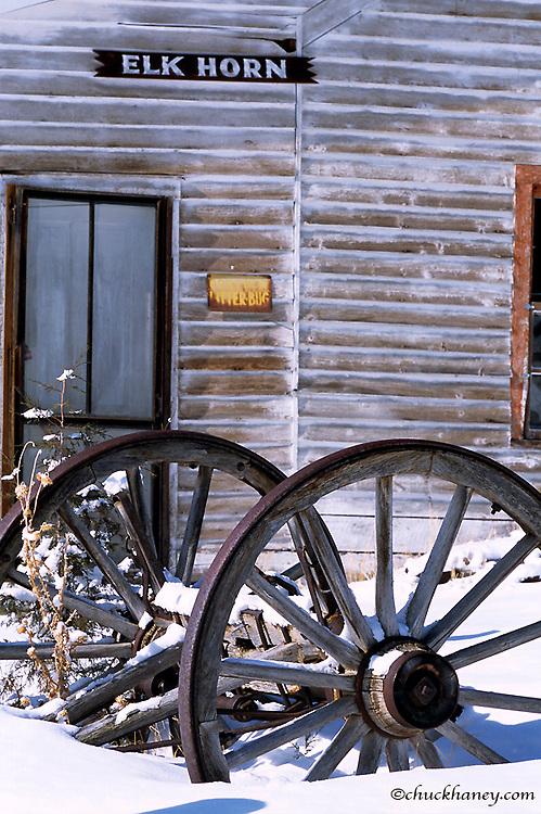 Elkhorn Ghost Town in the Beaverhead Deerlodge National Forest, Montana, USA