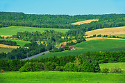 Rolling hills in the countryside<br />St. Gabriel-de-Rimouski<br />Quebec<br />Canada