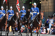 Queensland Police mounted horse unit in Brisbane ANZAC day 2005 parade <br />