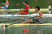 2004_Junior_Non_Olympics_Worlds_Lake Banyoles_Spain.29.07.2004 Thursday - Photo  Peter Spurrier .email images@intersport-images.com.Tel +44 7973 819 551 .MEX JM1X Leopoldo Tejada Rios Rowing Course: Lake Banyoles, SPAIN . [Mandatory Credit: Peter Spurrier: Intersport Images].