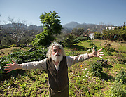 At the vegetable garden of Thomas Venakis, from which he takes all his vegetables. Zouridi village.
