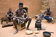 A Ghanaian Concoction Man determines whether a child (usually with a disability) is a spirit child, through various Rituals. These predictions are made with the use of sacrificial goats, the fresh blood of chickens, observing the behaviour of the beheaded chicken and various ritualistic instruments and objects.