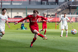 LIVERPOOL, ENGLAND - Wednesday, September 15, 2021: Liverpool's Luke Chambers during the UEFA Youth League Group B Matchday 1 game between Liverpool FC Under19's and AC Milan Under 19's at the Liverpool Academy. Liverpool won 1-0. (Pic by David Rawcliffe/Propaganda)