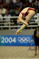 26/08/04 - ATHENS  - GREECE -  OLYMPICS GAMES 2004 - DIVING - Women 3m. Springboard final.<br />Here GUO Jingjing from (CHN) who win the GOLD MEDAL.<br />© Gabriel Piko / Argenpress.com / Piko-Press