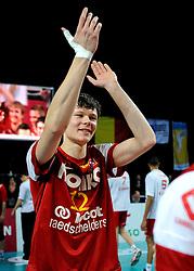 12-02-2012 VOLLEYBAL: BEKERFINALE EUPHONY ASSE LENNIK - NOLIKO MAASEIK: ANTWERPEN<br /> Noliko Maaseik wint vrij eenvoudig de beker van Belgie. In de finale waren zij met 25-21 25-18 en 25-19 te sterk voor Asse Lennik / Michael Parkinson<br /> ©2012-FotoHoogendoorn.nl