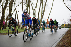 Moniek Tenniglo (NED) in the break at Driedaagse Brugge - De Panne 2018 - a 151.7 km road race from Brugge to De Panne on March 22, 2018. Photo by Sean Robinson/Velofocus.com