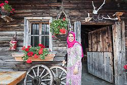 THEMENBILD, Arabische Gäste bei einem Ausflug auf die Fürthermoar Alm bei den Hochgebirgsstauseen Kaprun. Jedes Jahr besuchen mehrere Tausend Gäste aus dem arabischen Raum die Urlaubsregion im Salzburger Pinzgau, aufgenommen am 29.08.2013 in Kaprun, Österreich // Arab guests at a trip to the Fuerthermoar Alm at the Kaprun Alpine Reservoirs. Every year thousands of guests from Arab countries takes their holiday in Zell am See - Kaprun Region, Kaprun, Austria on 2013/08/29. EXPA Pictures © 2013, PhotoCredit: EXPA/ JFK
