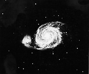 Photograph of the galaxy in Canes Venatici taken at Mount Wilson Observatory in 1910