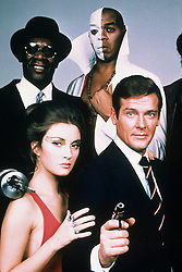 1973, Film Title: LIVE AND LET DIE, Director: GUY HAMILTON, Pictured: GUY HAMILTON, JULIUS W HARRIS, GEOFFREY HOLDER, JAMES BOND, ROGER MOORE. (Credit Image: SNAP/ZUMAPRESS.com) (Credit Image: © SNAP/Entertainment Pictures/ZUMAPRESS.com)