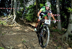 Blaza Klemencic during Cross Country XC Mountain bike race for Slovenian National Championship in Kamnik, on July 12, 2015 in Kamnik,  Slovenia. Photo by Vid Ponikvar / Sportida