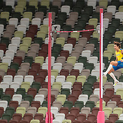 TOKYO, JAPAN August 3:    Armand Duplantis of Sweden goes clear during his gold medal performance in the Pole Vault Final for Men at the Olympic Stadium during the Tokyo 2020 Summer Olympic Games on August 3rd, 2021 in Tokyo, Japan. (Photo by Tim Clayton/Corbis via Getty Images)