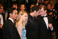 Kim Ly, Caleb Landry Jones, Sarah Gadon and Brandon Cronenberg attending the gala screening of The Sapphires at the 65th Cannes Film Festival. Saturday 19th May 2012 in Cannes Film Festival, France.