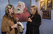 Erin Kleh and Cordelia Nevill , Opening of  Santa's Ghetto. Mixed art exhibition.  9 Berwick St. Soho, London. 30  November 2005. ONE TIME USE ONLY - DO NOT ARCHIVE  © Copyright Photograph by Dafydd Jones 66 Stockwell Park Rd. London SW9 0DA Tel 020 7733 0108 www.dafjones.com