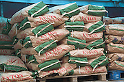 Bags of potatoes on a pallet