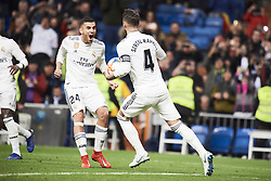 January 24, 2019 - Madrid, Spain - Sergio Ramos (defender; Real Madrid), Dani Ceballos (midfielder; Real Madrid) in action during Copa del Rey, Quarter Final match between Real Madrid and Girona FC at Santiago Bernabeu Stadium on January 24, 2019 in Madrid, Spain (Credit Image: © Jack Abuin/ZUMA Wire)