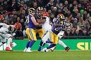 LA Rams Running Back Darrell Henderson (27) during the International Series match between Los Angeles Rams and Cincinnati Bengals at Wembley Stadium, London, England on 27 October 2019.