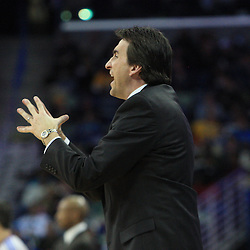 04 February 2009:  Chicago Bulls coach Vinny  Del Negro reacts to a play during a 93-107 loss by the New Orleans Hornets to the Chicago Bulls at the New Orleans Arena in New Orleans, LA.