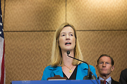 October 3, 2017 - Washington, District Of Columbia, USA - AVERY GARDINER, co-president of the Brady Campaign speaks with the media during a press conference on gun violence held at the United States Capitol. The group of lawmakers demanded new legislation to bring forward gun control measures in response to the mass shooting in Las Vegas. (Credit Image: © Alex Edelman via ZUMA Wire)