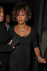 EXCLUSIVE: Last photos of Whitney Houston just two days before her death on 11th February 2012 at the Beverly Hills Hotel in California. Houston could be seen leaving 'Tru' nightclub in Hollywood looking rather worse for wear, with red drips on her legs and a rather protruding belly. She can also be seen with what looks like a cut scar on her wrist. Houston was accompanied with her then 19-year-old daughter Bobbi Kristina Brown, on-off boyfriend Ray J and sister-in-law and manager Patricia Houston. 09 Feb 2012 Pictured: Whitney Houston, Patricia Houston, Pat Houston. Photo credit: Benjamin Dome/MEGA TheMegaAgency.com +1 888 505 6342