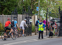 © Licensed to London News Pictures. 09/06/2020. London, UK. Cyclists enjoy Richmond Park in South West London once again after months of being closed as a ban on cycling is partially lifted allowing cycling before 10am and after 4pm. Next Monday high street shops and department stores will be allowed to reopen as part of the Government's easing of lockdown measures. Photo credit: Alex Lentati/LNP