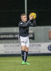 Falkirk's John Baird with the match ball after scoring a hat trick. <br /> Falkirk 5 v 0 Alloa Athletic, Scottish Championship game played at The Falkirk Stadium. © Ross Schofield