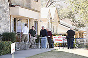 Voters enter a polling station for Super Tuesday on March 1, 2016 in Fort Worth, Texas.  (Cooper Neill for The New York Times)