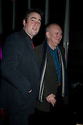 JEREMY HERRIN; ALAN AYCKBOURN;, Absent Friends - press night  afterparty. Mint Leaf. Haymarket. London. Thursday 9 February 2012