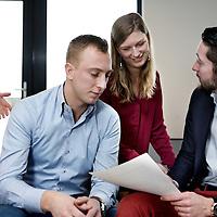 Nederland, Den Bosch , 18 februari 2015.<br /> Enexis management trainee shoot op het hoofdkantoor in Den Bosch.<br /> Foto:Jean-Pierre Jans