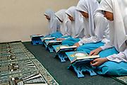 Moslem girls studying the Koran in Islamic school, Bandar Seri Begawan, Brunei