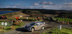Sebastien Ogier of France and Julien Ingrassia of France  in the M-Sport WRT Ford Fiesta WRC on the Brenig Stage  during day four of the Dayinsure Wales Rally GB. PRESS ASSOCIATION Photo. Picture date: Sunday October 29, 2017. Photo credit should read: David Davies/PA Wire