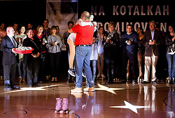 Lucija Mlinaric with her team during special artistic roller skating event when Lucija Mlinaric of Slovenia, World and European Champion ended her successful sports career, on November 7, 2015 in Rence, Slovenia. Photo by Vid Ponikvar / Sportida