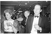 Countess and Earl of Darnley, Spring Ball, inter-continental, 12.03.86© Copyright Photograph by Dafydd Jones 66 Stockwell Park Rd. London SW9 0DA Tel 020 7733 0108 www.dafjones.com