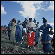 Women gather on Nowruz, the Persian New Year, on the hill of Kabul.