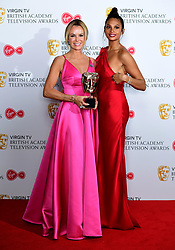 Alesha Dixon and Amanda Holden collect the award for Best Entertainment programme for Britain's Got Talent in the press room at the Virgin TV British Academy Television Awards 2018 held at the Royal Festival Hall, Southbank Centre, London.