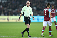 Referee Anthony Taylor looking on. Premier league match, West Ham Utd v Hull city at the London Stadium, Queen Elizabeth Olympic Park in London on Saturday 17th December 2016.<br /> pic by John Patrick Fletcher, Andrew Orchard sports photography.
