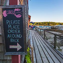 Luke's Restaurant at Miller's Wharf in Tenants Harbor, Maine.