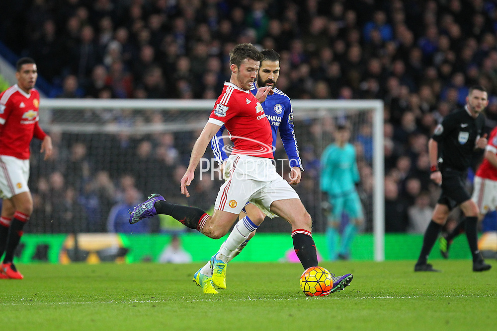 Michael Carrick during the Barclays Premier League match between Chelsea and Manchester United at Stamford Bridge, London, England on 7 February 2016. Photo by Phil Duncan.