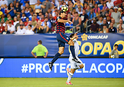 July 19, 2017 - Philadelphia, PA, USA - Philadelphia, PA - Wednesday July 19, 2017: Omar Gonzalez during a 2017 Gold Cup match between the men's national teams of the United States (USA) and El Salvador (SLV) at Lincoln Financial Field. (Credit Image: © Brad Smith/ISIPhotos via ZUMA Wire)