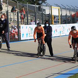 09-10-2020: Wielrennen: EK Baan: Fiorenzurola<br />Teamsprint<br />VAN LOON Tijmen<br /> KOOL Daan<br /> HOPPEZAK Vincent
