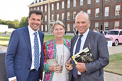 Paul Stewart, Charlene de Carvalho and Michel de Carvalho at the Concours d'éléphant in aid of Elephant Family held at the Royal Hospital Chelsea, London, England. 28 June 2018.