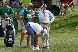 June 21, 2018 - Cromwell, Connecticut, United States - CROMWELL, CT-JUNE 21: Luke List prepares to hit a shot out of the water on to the 15th green during the first round of the Travelers Championship on June 21, 2018 at TPC River Highlands in Cromwell, Connecticut. (Credit Image: © Debby Wong via ZUMA Wire)