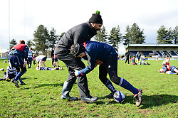 Cooper Vuna delivers coaching sessions at Stourbridge RFC  - Mandatory by-line: Dougie Allward/JMP - 19/03/2017 - Rugby - Stourbridge RFC - Stourbridge, England - Worcester Warriors Community Rugby