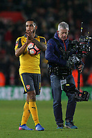 Football - 2016 / 2017 FA Cup - Fourth Round: Southampton vs. Arsenal<br /> <br /> Theo Walcott of Arsenal claims the match ball after his hat trick helps Arsenal through to the next round of the FA Cup at St Mary's Stadium Southampton England<br /> <br /> COLORSPORTt/SHAUN BOGGUST