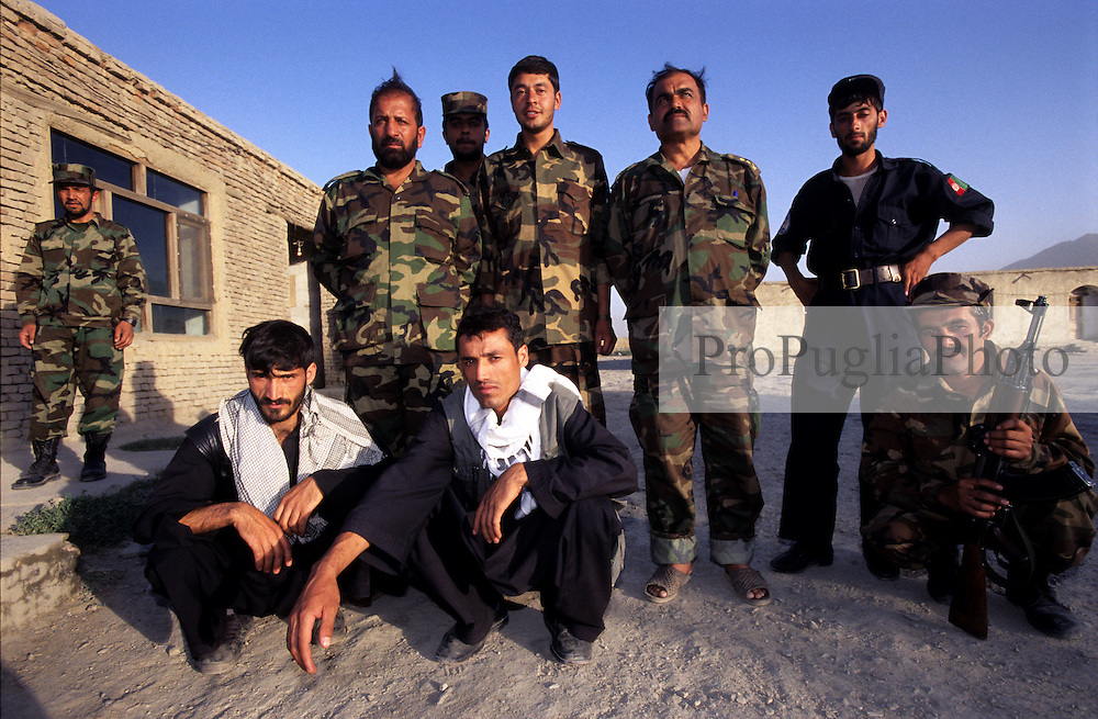 Kabul, 25 July 2005..Afghan soldiers pose for a group photograph.
